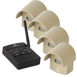 1/4 Mile Hosmart Rechargable Driveway Alarm Wireless Sensor
