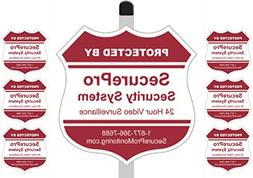 """1 """"Protected By SecurePro Security System"""" Yard Sign  Mounte"""