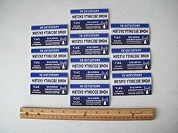 10 Home Security System Window Decals Stickers - Stock # 713