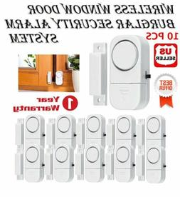 10 PACK WIRELESS DOOR AND WINDOW ENTRY ALARM BATTERY HOME SY