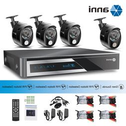 anni 1080P 8CH DVR with 3x PIR &1x Siren Alarm Camera CCTV H