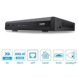 1080p 4ch poe nvr video recorder alarm