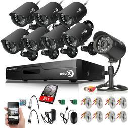 XVIM 1080P HDMI 8CH CCTV DVR 720P Outdoor IR Night Security