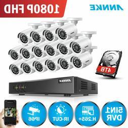 ANNKE 1080P TVI 16CH 5IN1 H.264+ DVR Outdoor 3000TVL Securit