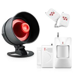 120dB Apartment Security Alarm System Siren Horn + Wireless