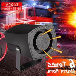 12V-24V 6 Sound Car Warning Alarm Police Fire Siren Horn Lou