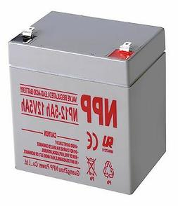NPP 12V 5Ah Rechargeable SLA Battery For Alarm System WKA12-