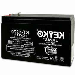 KEYKO 12V 7AH Battery SLA Sealed Lead Acid for Alarm Systems