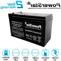 12V 7AH Battery SLA Sealed Lead Acid for Alarm Systems, Veri