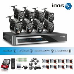 16CH 1080P DVR 2.0MP 8x PIR Siren Gas Alarm CCTV Security Ca