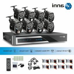 ANNI 16CH  1080N DVR CCTV Security Camera System 1080P PIR A