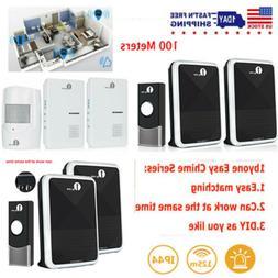 1byone Wireless Doorbell Driveway Alarm System Twin Alert Be