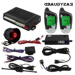 EASYGUARD 2 way car alarm system auto lock&unlock ultrasonic