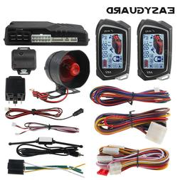EASYGUARD 2 way car alarm system auto start vibration alarm
