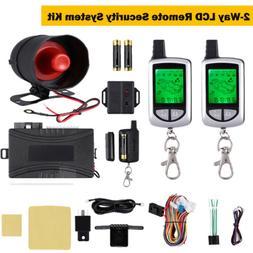 2 Way Car Alarm System LCD Remote Control Keyless Entry Anti