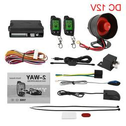 2 Way Car Alarm System LCD Vehicle Remote Start Security Sys