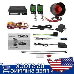 2 Way Car Auto Cargo Alarm System LCD Remote Control Securit
