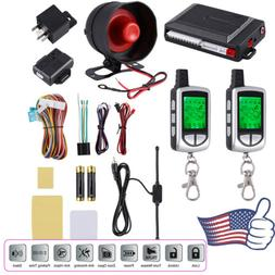 2 Way LCD Remote Car Alarm Keyless Entry Security System Pag