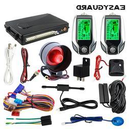 EASYGUARD 2 way pke car alarm system keyless entry shock war