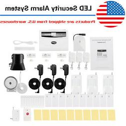 2020 LED Intelligent Wireless Digital Home Security Alarm Sy