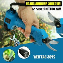 21V Electric Pruning Shears Cordless Li-ion Secateur Branch