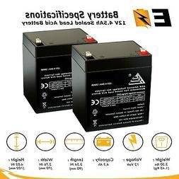 2pk: 12V 4.5Ah SLA Sealed Lead Acid AGM Battery UB1245 Casil