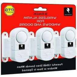3-12PK WIRELESS WINDOW DOOR ALARM CHIME HOME BURGLAR SECURIT