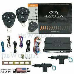 AVITAL 3100LX Keyless Entry Car Alarm System + 2 Universal D