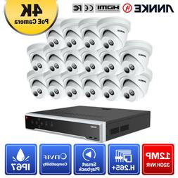 ANNKE 32CH 12MP NVR 4K 8MP POE Security Camera System IP Wir
