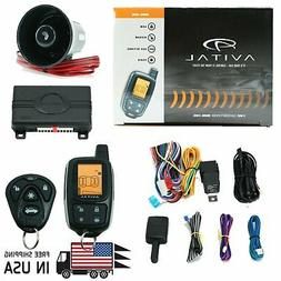Avital 3305L 2-Way Car Security System Alarm Remote Keyless