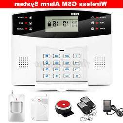 433MHz GSM SMS Wireless Security Alarm System Home Window Do