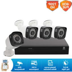 4CH 1080P HD NVR In/Outdoor IR Day Night POE Camera Security