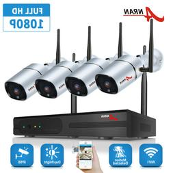 ANRAN 4CH 1080p HD Wireless Security Video System 2MP NVR Ou