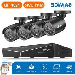 SANNCE 4CH 1080P HDMI DVR 4x 720P 1500TVL IR Security Camera
