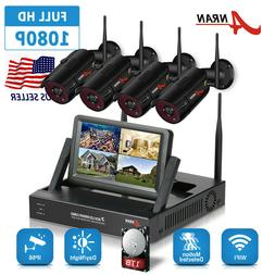 """ANRAN 720P HD 4CH 7"""" Monitor NVR IP Outdoor Home Wireless"""