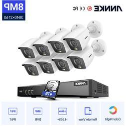 ANNKE 4K Ultra HD 5MP/8MP CCTV Security Camera System 8CH DV