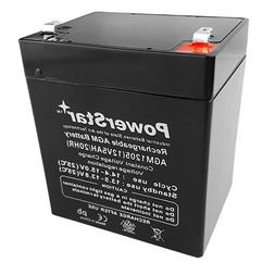 This is an AJC Brand Replacement Casil Ca1240 Control 12V 5Ah Alarm Battery