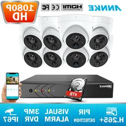 ANNKE 5in1 3MP 8CH DVR 1080P 2MP PIR Dection Home Security C