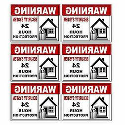 6 Pack Security Alarm Sticker Best for Home and Business for