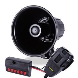 Pyle 6 Tone Sound Car Siren Vehicle Horn w/ Mic PA Speaker S