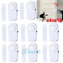 8 Packs Wireless Security Burglar Alarm Home Window Door Sys