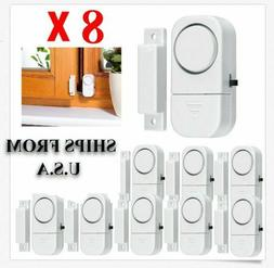 8 X WIRELESS Home Window Door Burglar Security ALARM System