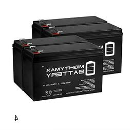 12V 8AH SLA Replacement Battery for Elk 1280 Alarm Systems -