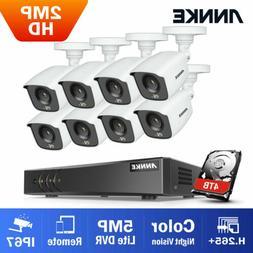 ANNKE 8CH H.265+ DVR 1080P Warm Light Color Night Vision Sec