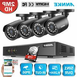 ANNKE HD 8CH 1080P Lite DVR 2500TVL Outdoor 24IR Home Securi