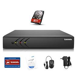 Annke 4-Channel 5-in-1 1080P Lite Security Standalone DVR wi