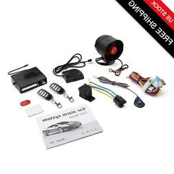 Auto Keyless Entry Security Alarm System 1 Way Anti-theft Si