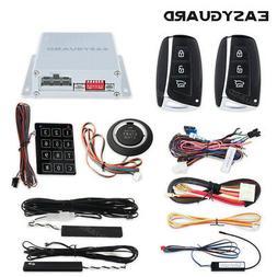 EASYGUARD pke car alarm system push button remote engine sta