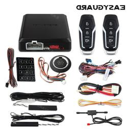 EASYGUARD PKE Car Alarm System Remote Start push button Pass