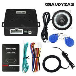EASYGUARD RFID car alarm system push button start transponde